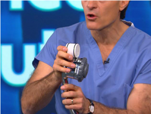 Dr. Oz Demonstrates Culligan Shower Water Filter