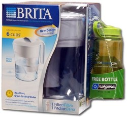 Brita Classic Water Filter Pitcher With Nalgene Bottle