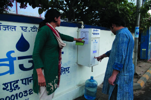 "Can Drinking Water ATMs Solve Clean Water Crisis In India? Five year start-up Sarvajal (""water for all"" in Sanskrit) believes the answer is 'yes.' The company has developed ATM style water distribution systems for parts of rural India designed to eliminate the burden of many residents that must spend several hours daily acquiring water for basic needs.  As our global water shortage crisis is primarily one of distribution rather than inventory, this is definitely a move in the right direction."