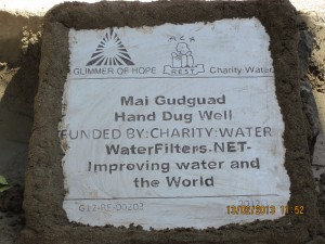 Mai Gudguad Community Plaque Thanking WaterFilters.NET