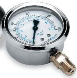 Pressure Gauge 0-100 PSI with Quarter Inch lower mount