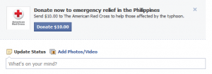 Facebook & Red Cross for Typhoon Haiyan Relief