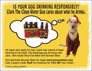 Bowser Beer Ad Featuring Clark the Clean Water Dog