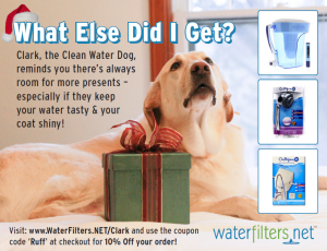 WaterFilters.NET Bowser Beer Ad Featuring Clark The Clean Water Dog