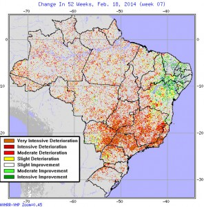 Brazilian Drought Map