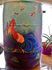 Painted Rain Barrel Exhibit In Cleveland, Oh
