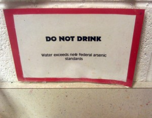 Do Not Drink - Arsenic In Water Warning
